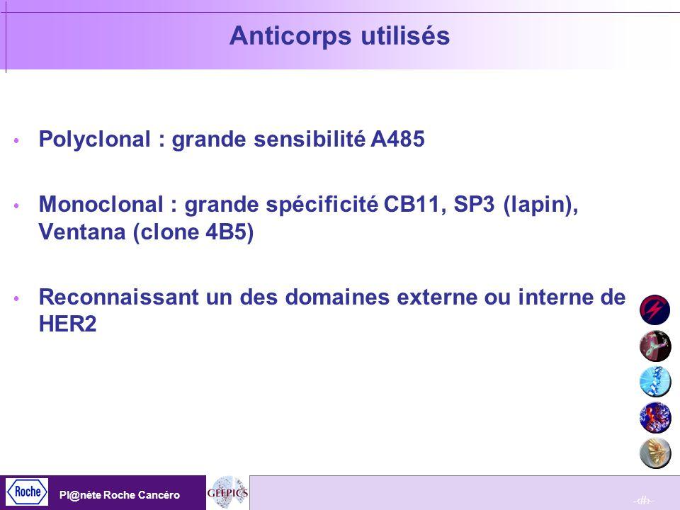 Anticorps utilisés Polyclonal : grande sensibilité A485