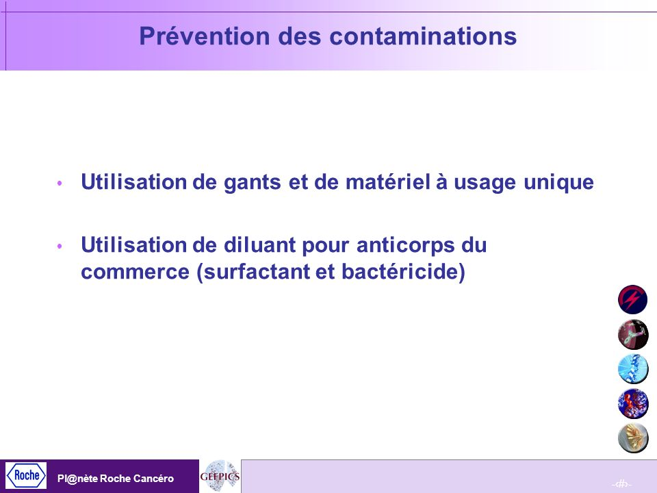 Prévention des contaminations