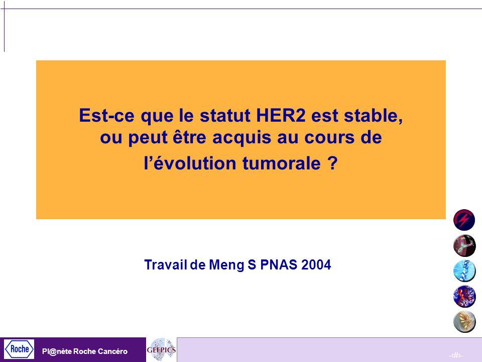 Est-ce que le statut HER2 est stable, ou peut être acquis au cours de l'évolution tumorale