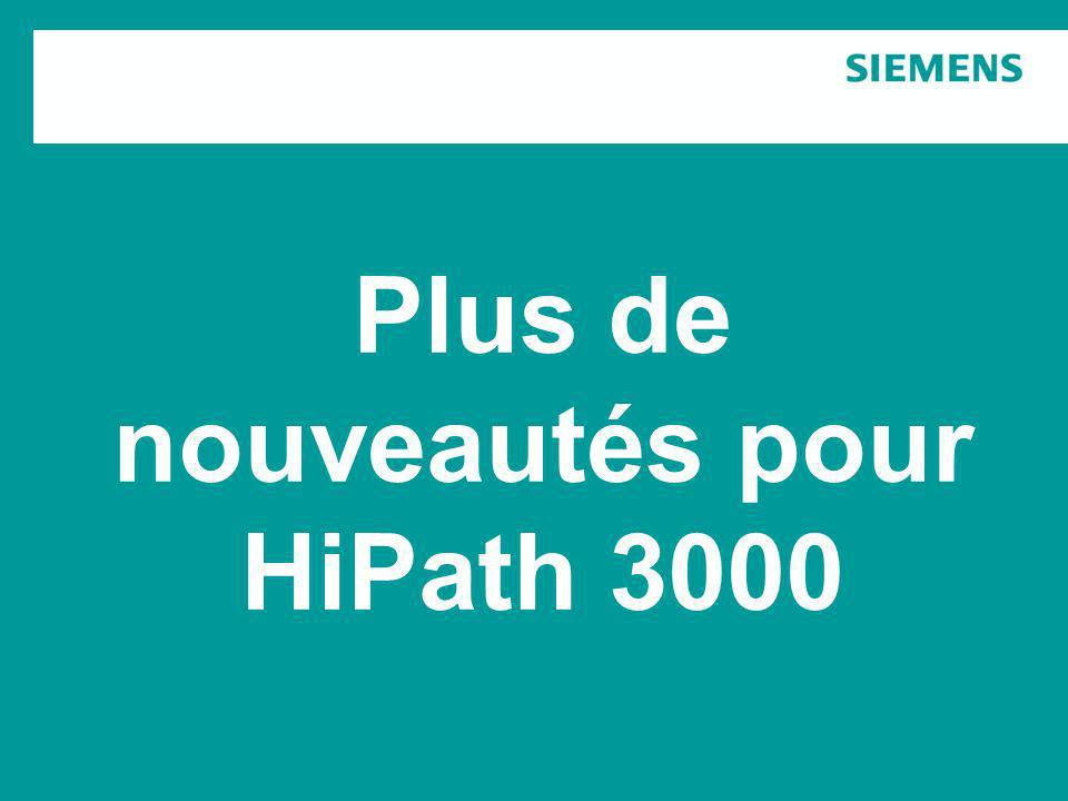 Plus de nouveautés pour HiPath 3000