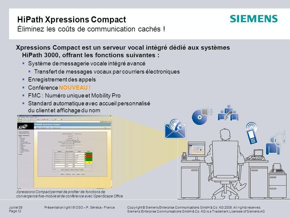 HiPath Xpressions Compact Éliminez les coûts de communication cachés !