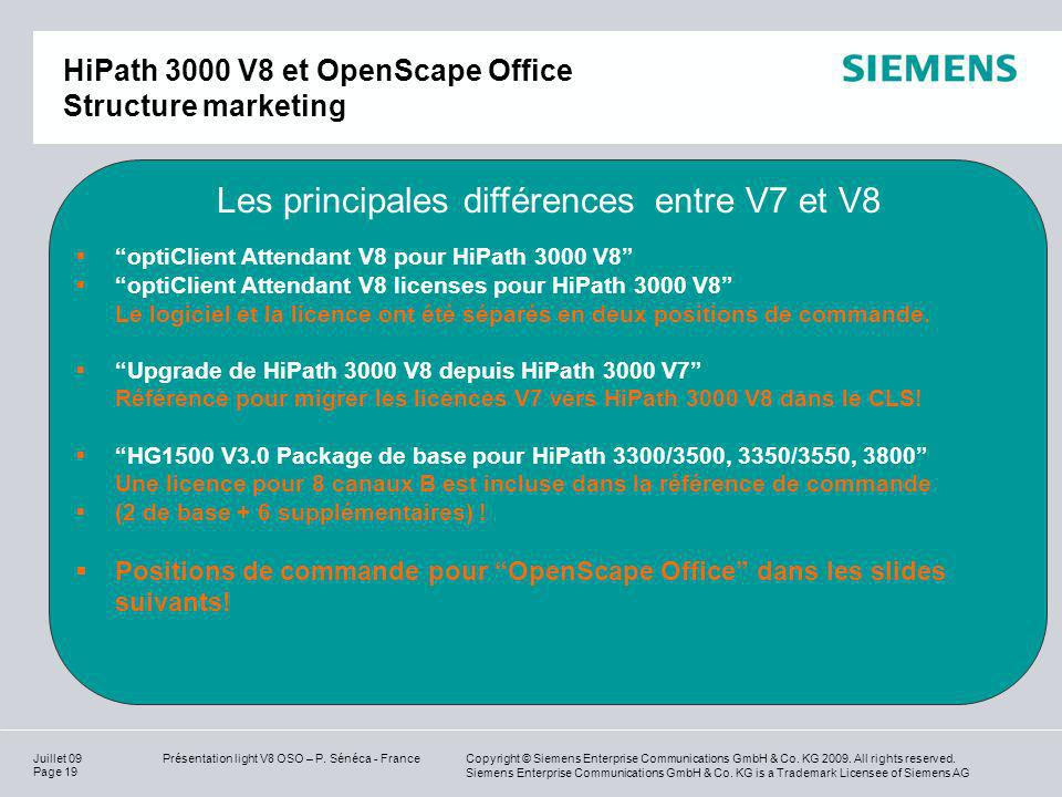 HiPath 3000 V8 et OpenScape Office Structure marketing