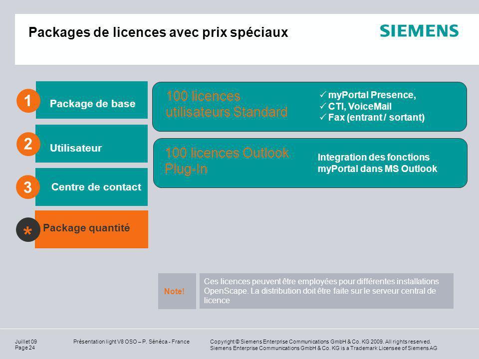 Packages de licences avec prix spéciaux