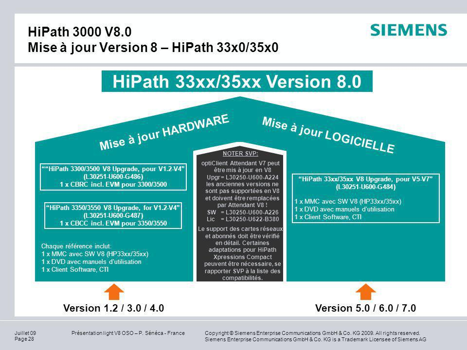 HiPath 3000 V8.0 Mise à jour Version 8 – HiPath 33x0/35x0