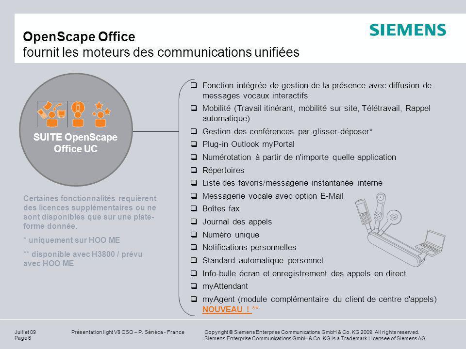 OpenScape Office fournit les moteurs des communications unifiées