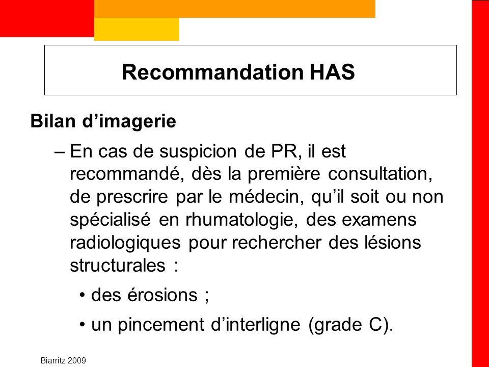 Recommandation HAS Bilan d'imagerie