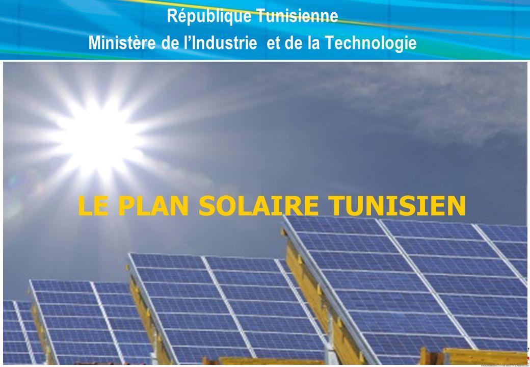 République Tunisienne Ministère de l'Industrie et de la Technologie