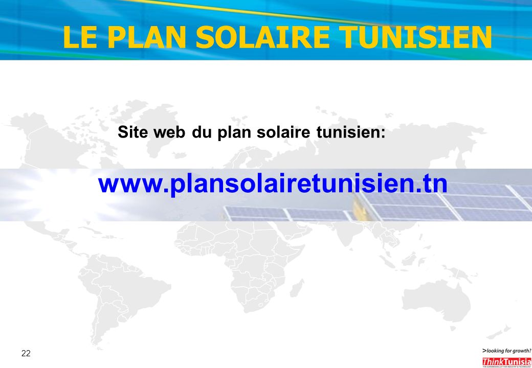 LE PLAN SOLAIRE TUNISIEN