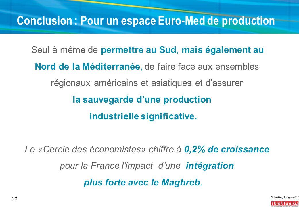 Conclusion : Pour un espace Euro-Med de production