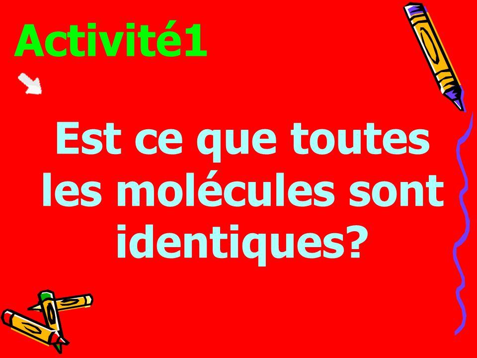 Est ce que toutes les molécules sont identiques