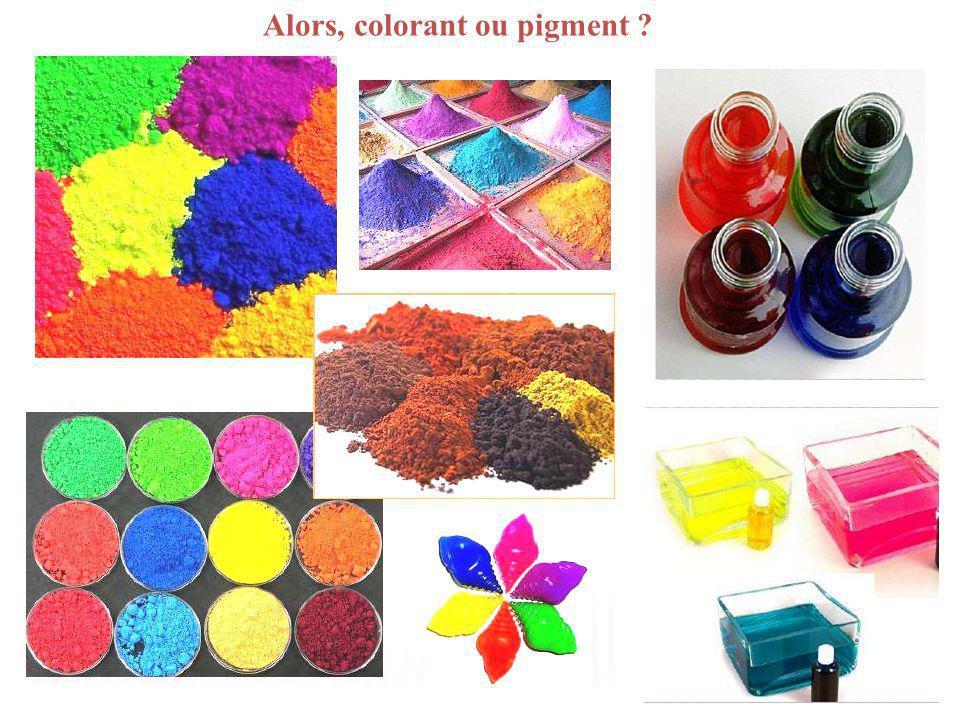 Alors, colorant ou pigment