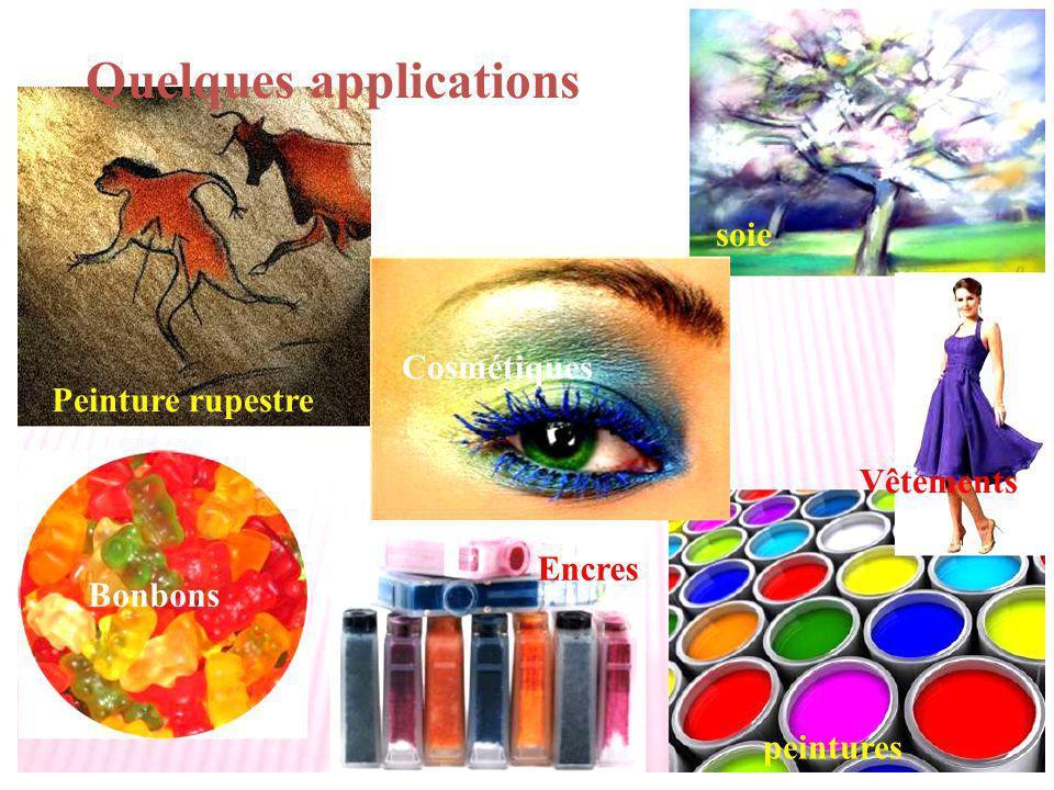 Peinture rupestre Encres Bonbons peintures Quelques applications soie