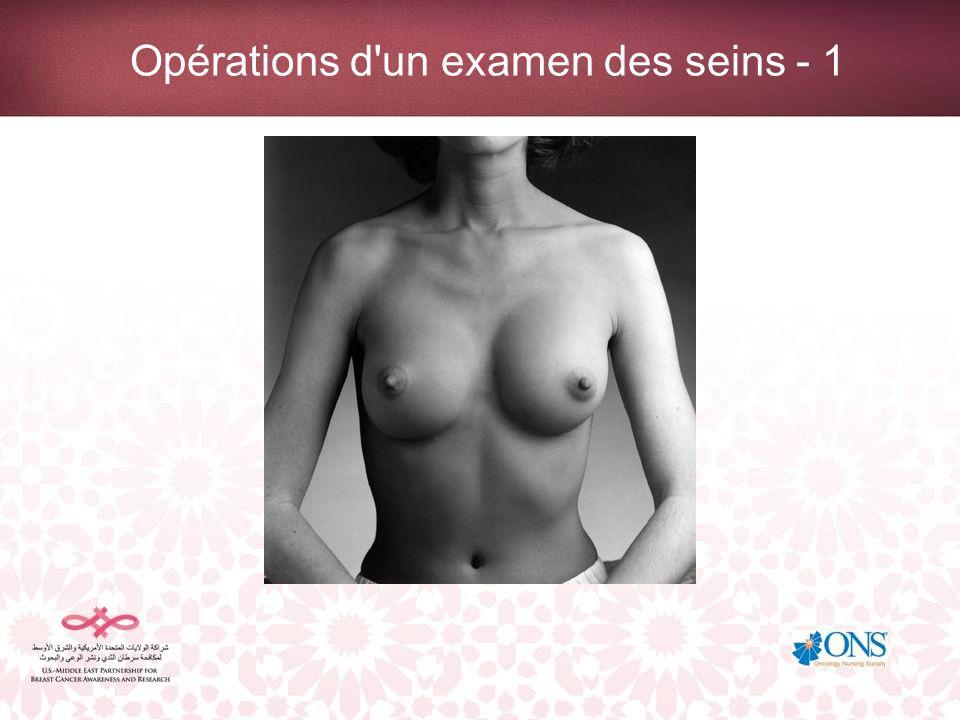 Opérations d un examen des seins - 1
