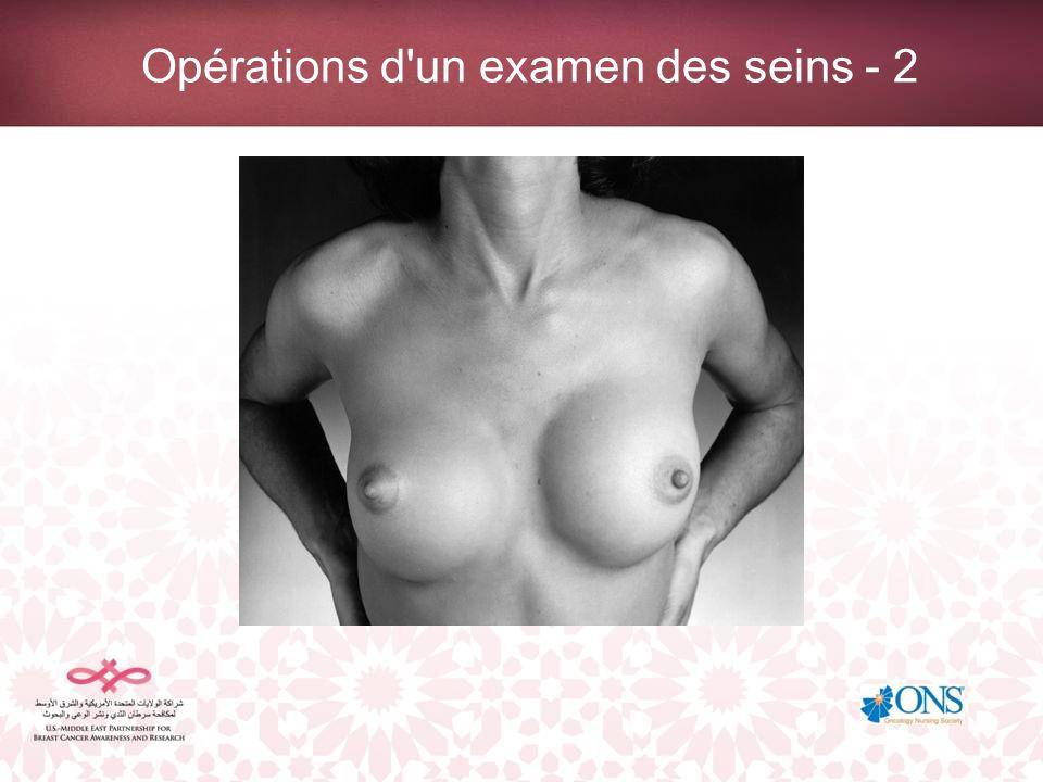 Opérations d un examen des seins - 2