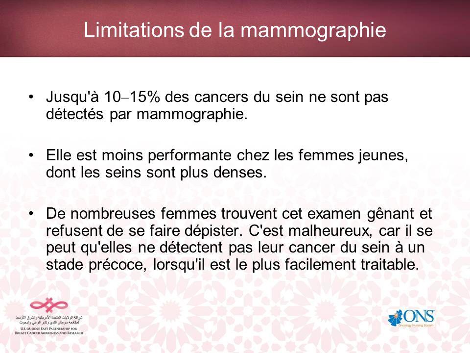 Limitations de la mammographie
