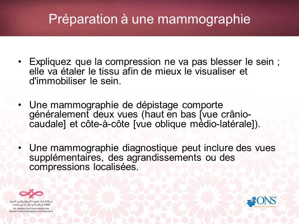 Préparation à une mammographie