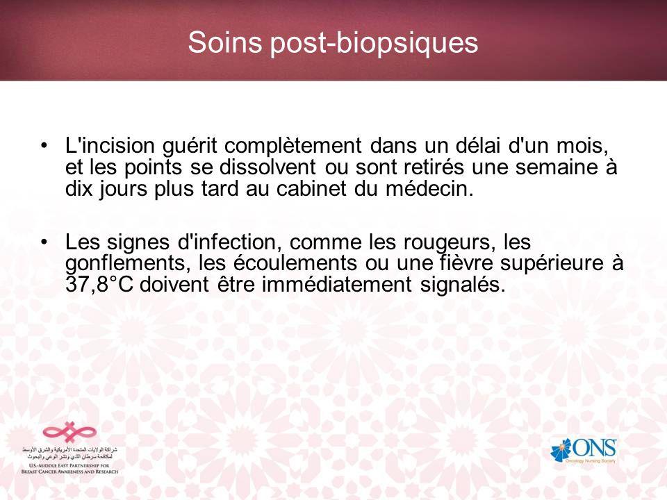 Soins post-biopsiques