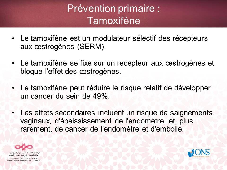 Prévention primaire : Tamoxifène