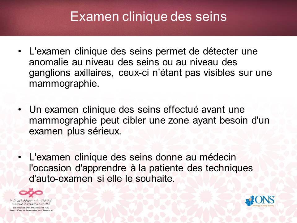 Examen clinique des seins