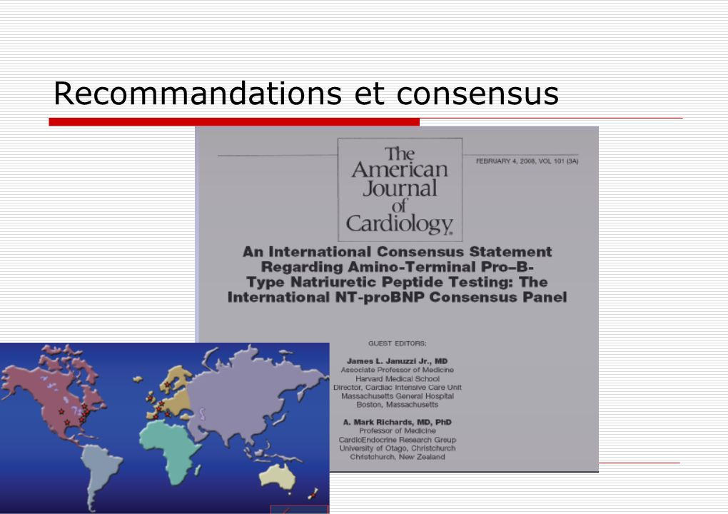 Recommandations et consensus