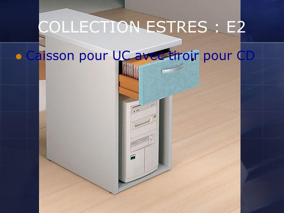 COLLECTION ESTRES : E2 Caisson pour UC avec tiroir pour CD