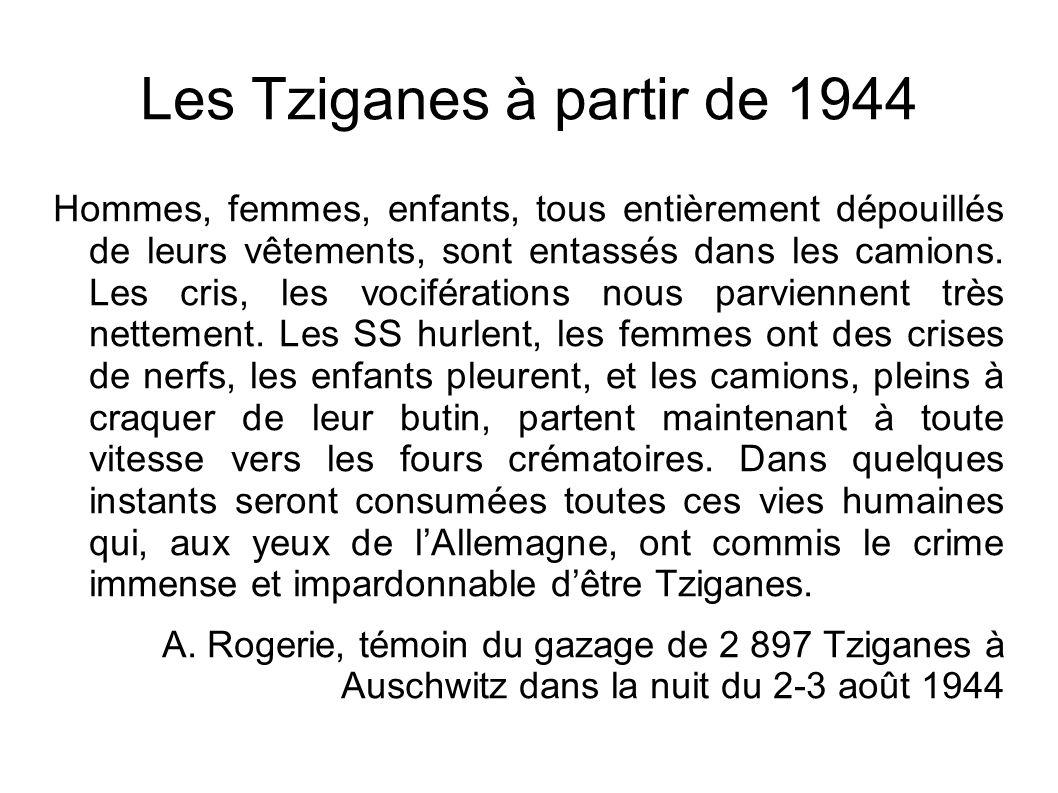Les Tziganes à partir de 1944