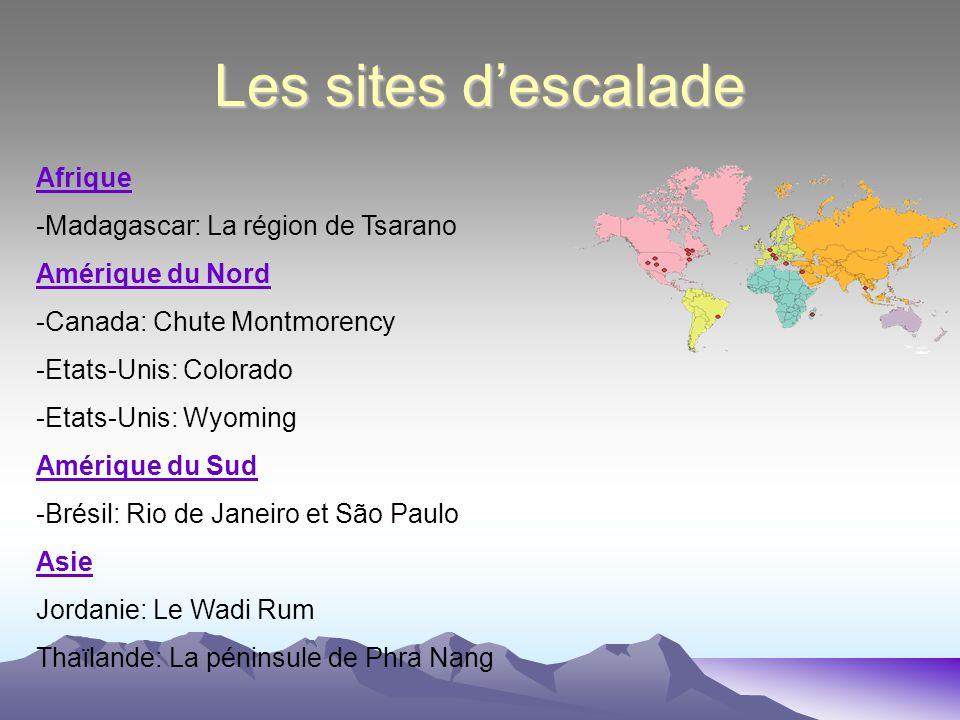 Les sites d'escalade Afrique -Madagascar: La région de Tsarano