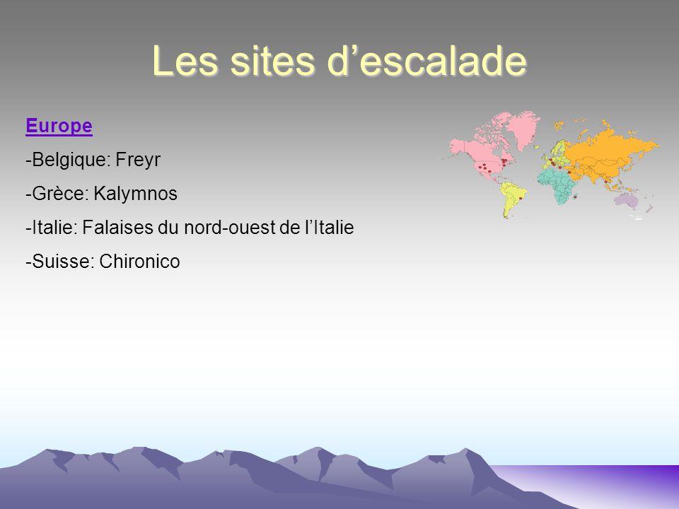 Les sites d'escalade Europe -Belgique: Freyr -Grèce: Kalymnos