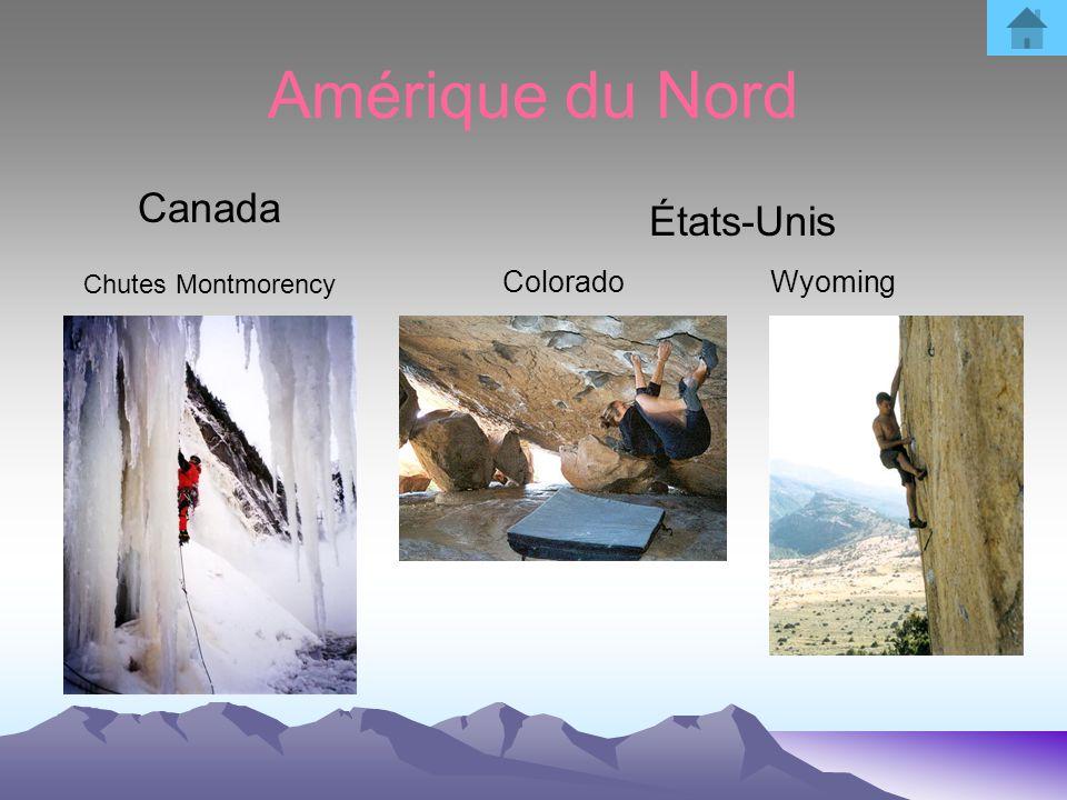 Amérique du Nord Canada Chutes Montmorency États-Unis Colorado Wyoming