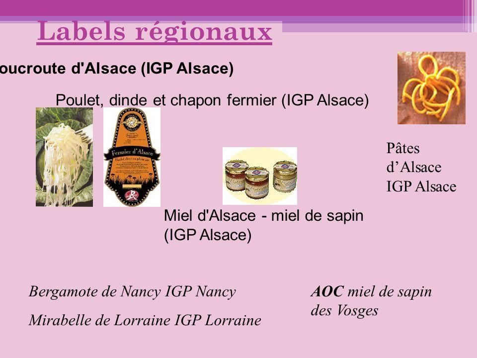 Labels régionaux Choucroute d Alsace (IGP Alsace)