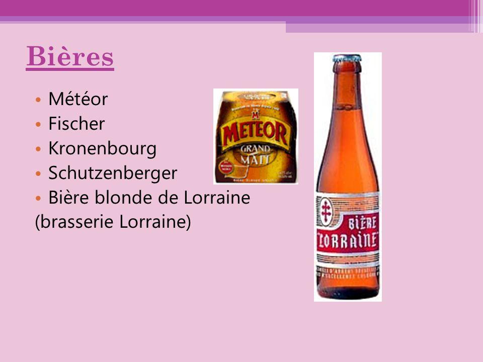 Bières Météor Fischer Kronenbourg Schutzenberger