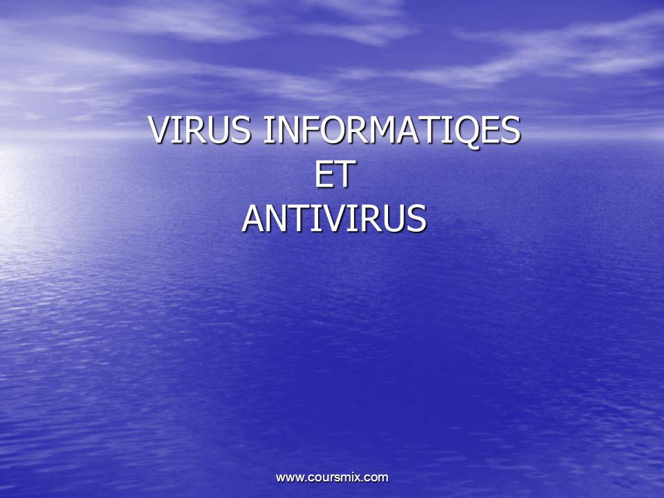VIRUS INFORMATIQES ET ANTIVIRUS