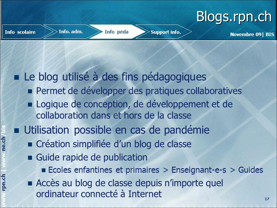 Blogs.rpn.ch Le blog utilisé à des fins pédagogiques