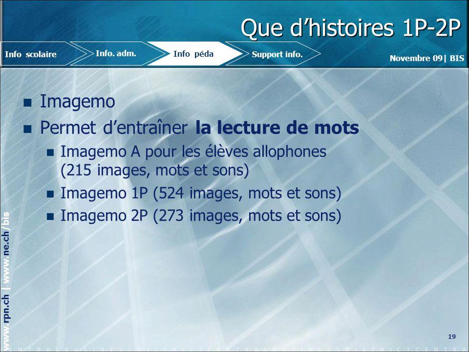 Que d'histoires 1P-2P Imagemo Permet d'entraîner la lecture de mots