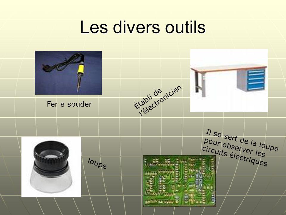 Les divers outils Établi de l'électronicien Fer a souder