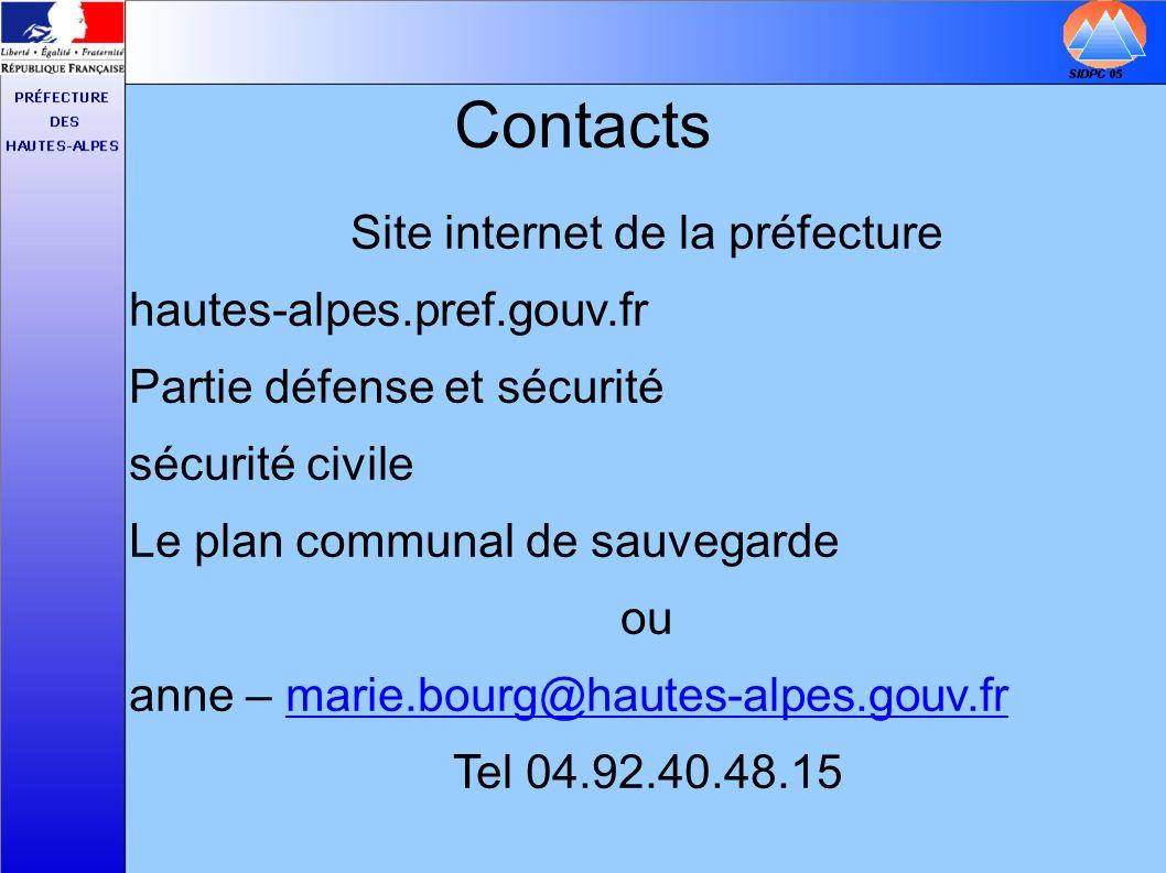 Site internet de la préfecture