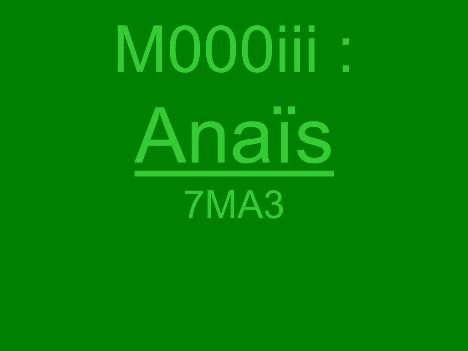 M000iii : Anaïs 7MA3