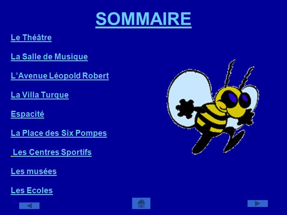 SOMMAIRE Le Théâtre La Salle de Musique L'Avenue Léopold Robert