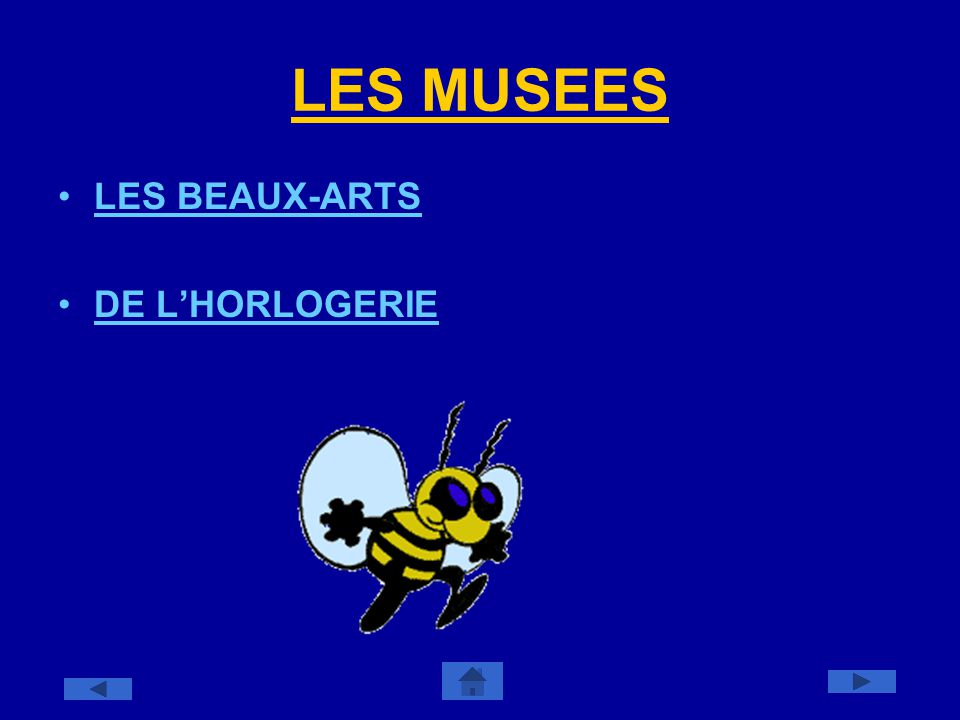 LES MUSEES LES BEAUX-ARTS DE L'HORLOGERIE