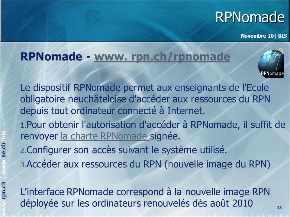 RPNomade RPNomade - www. rpn.ch/rpnomade