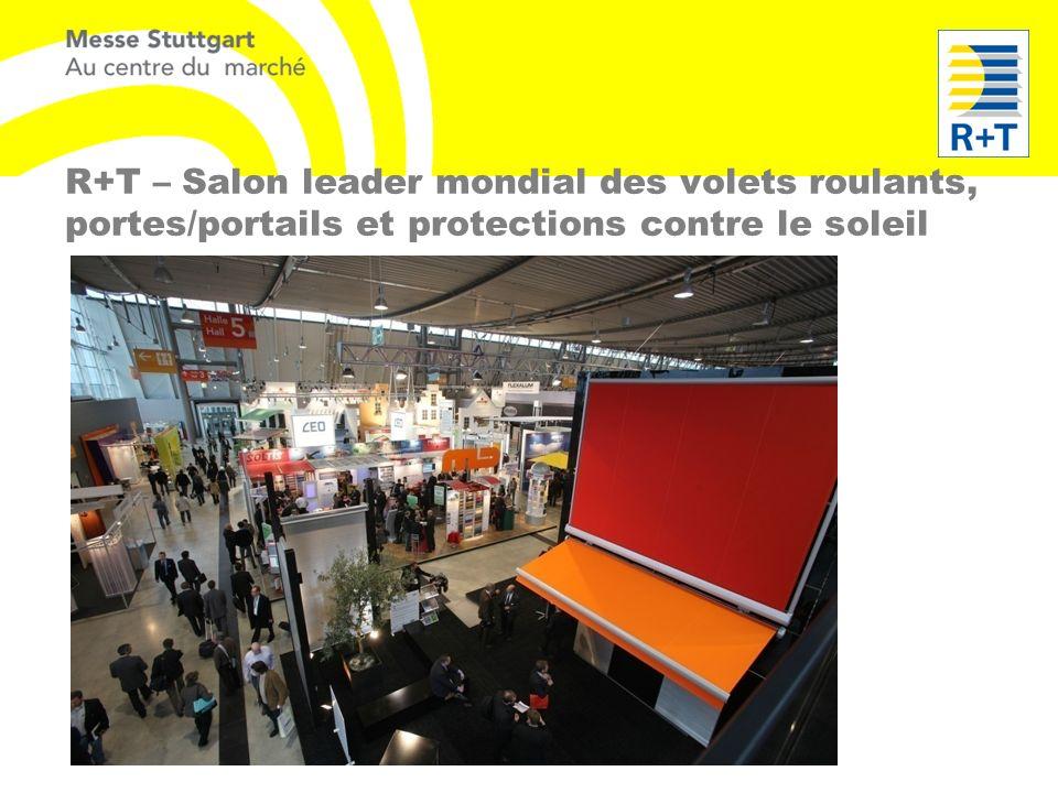 R+T – Salon leader mondial des volets roulants, portes/portails et protections contre le soleil