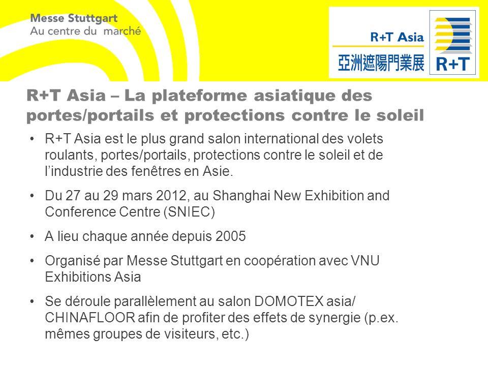 R+T Asia – La plateforme asiatique des portes/portails et protections contre le soleil