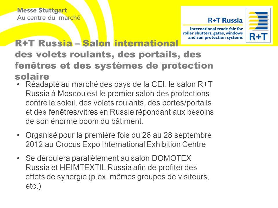 R+T Russia – Salon international des volets roulants, des portails, des fenêtres et des systèmes de protection solaire