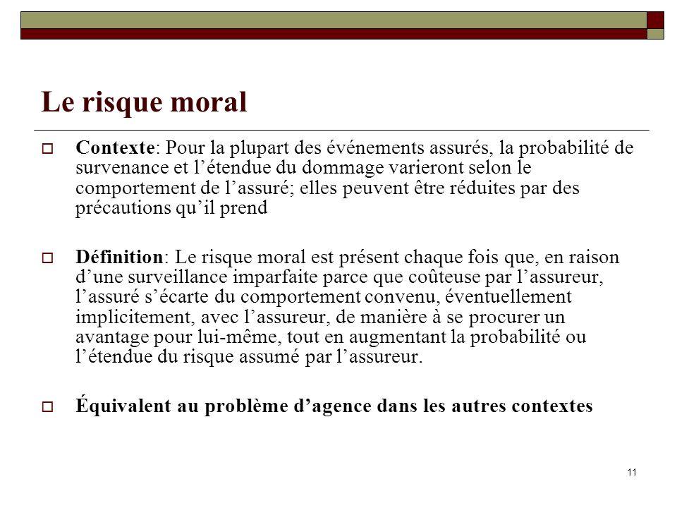 Le risque moral