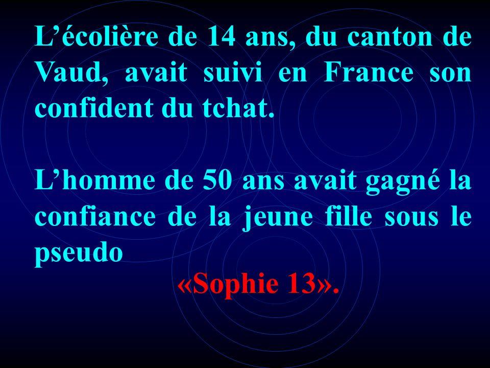 L'écolière de 14 ans, du canton de Vaud, avait suivi en France son confident du tchat.