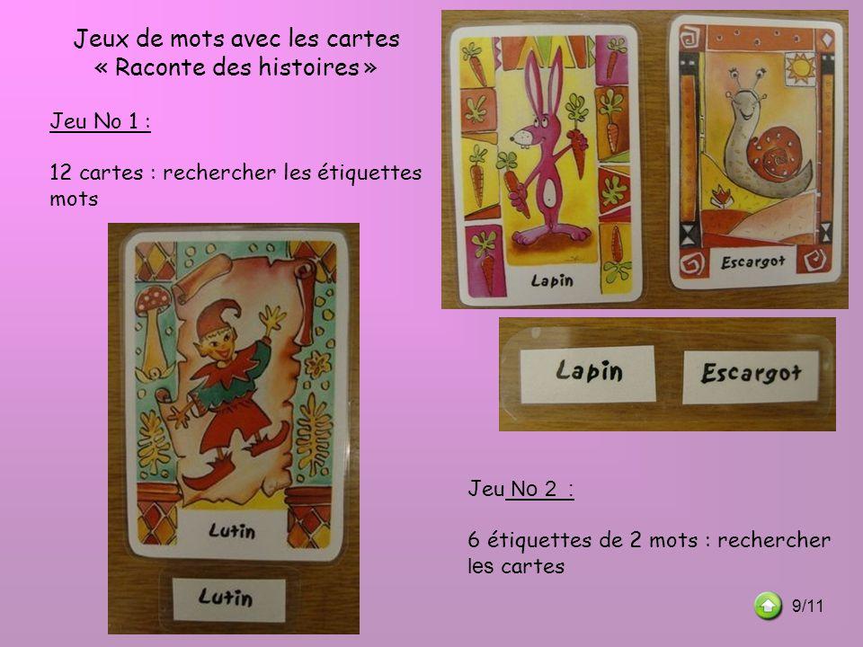 Jeux de mots avec les cartes « Raconte des histoires »
