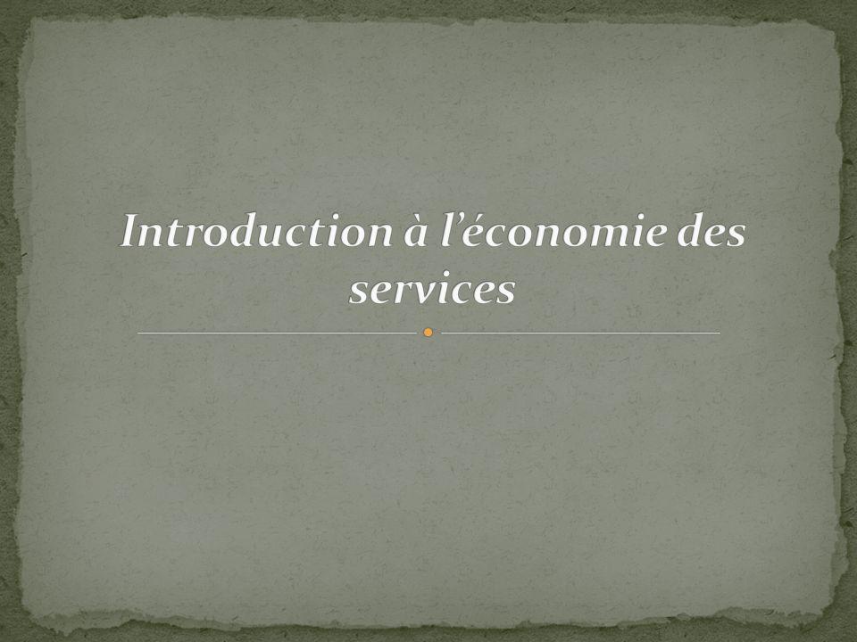 Introduction à l'économie des services
