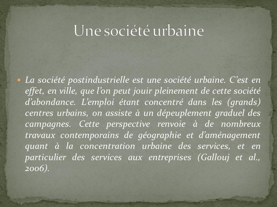 Une société urbaine