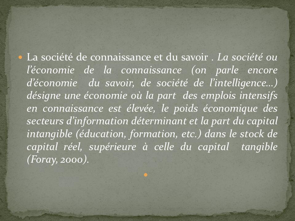 La société de connaissance et du savoir