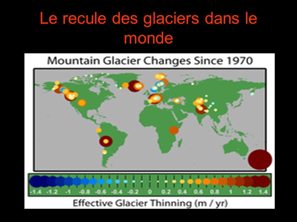 Le recule des glaciers dans le monde